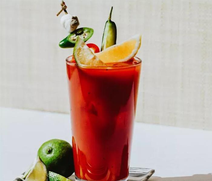 Cocktail with garnish