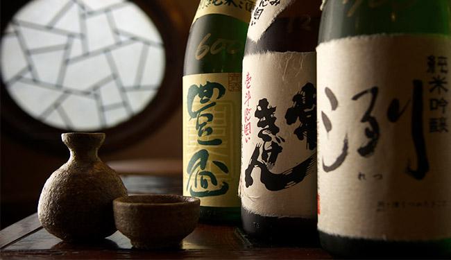 Bottles of sake