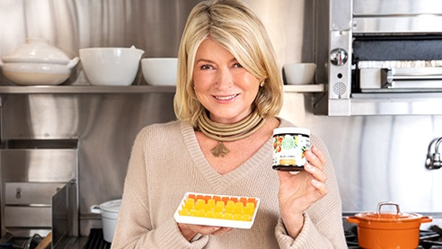 Martha Stewart holding products