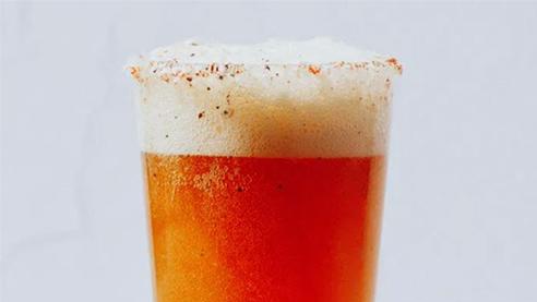 Beer cocktail with celery salt
