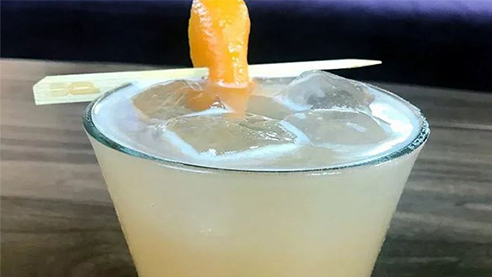 Radler paloma beer cocktail with garnish