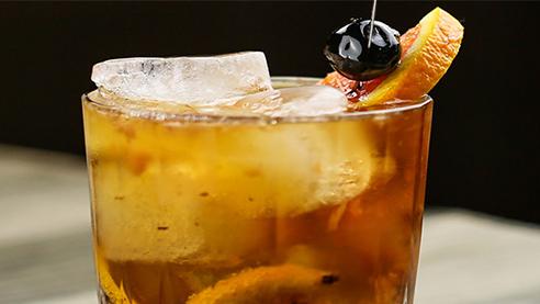 Brandy cocktail up close