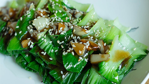 Bok Choy with Garlic and White Wine