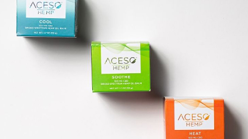 Aceso products on a white backdrop