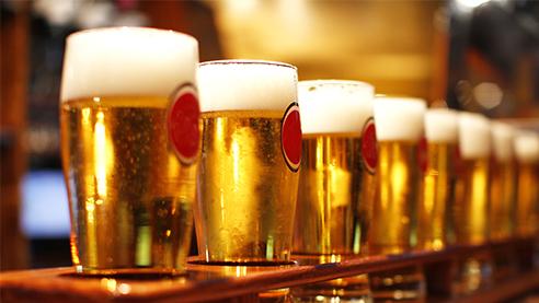 Glasses of Belgian beer